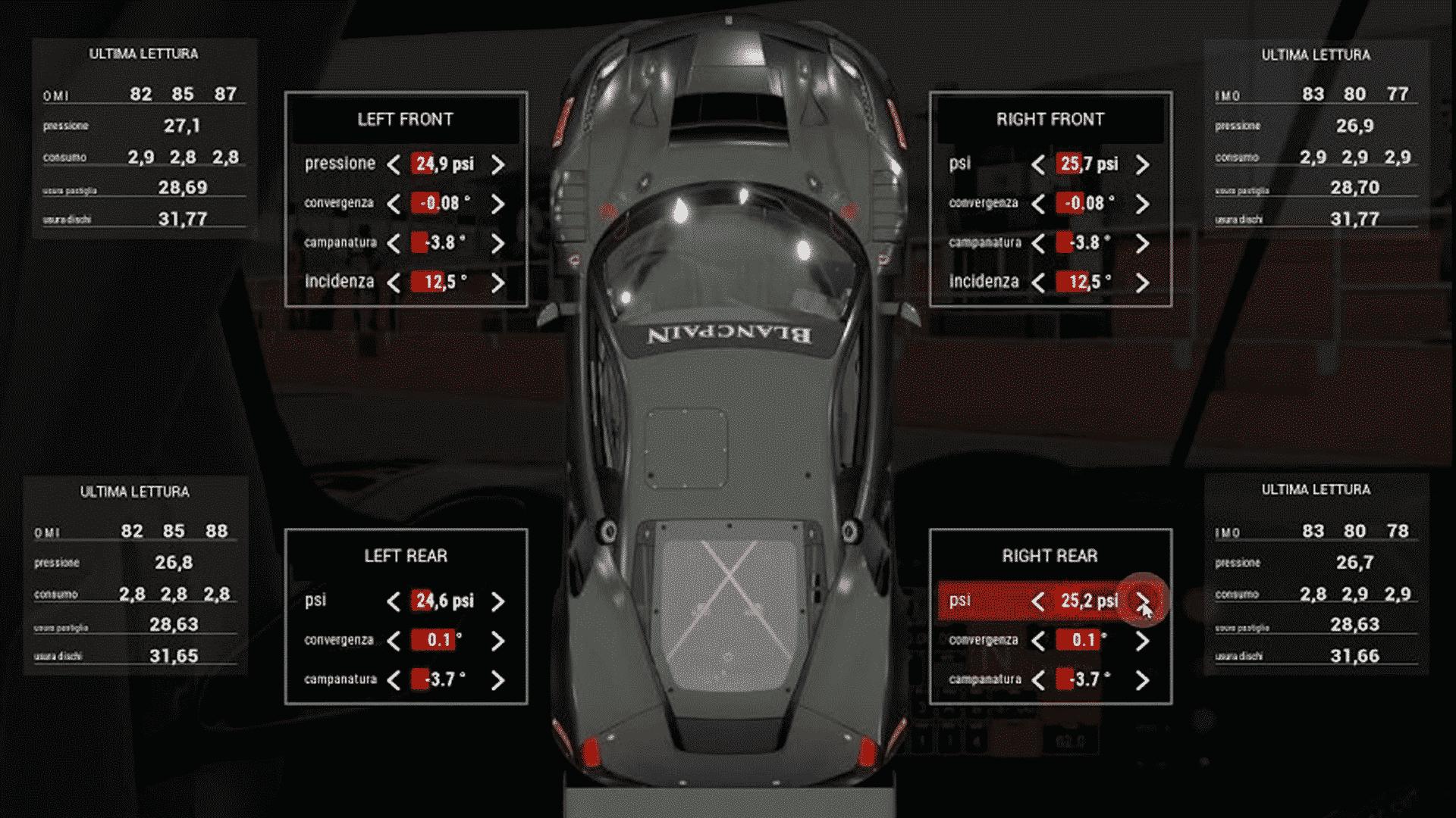 regolazione racing simulator software
